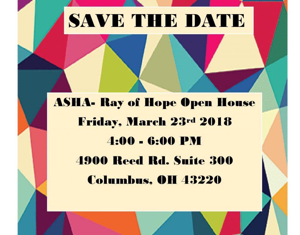 ASHA 2018 Open House